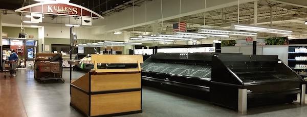 King Kullen in Riverhead is emptying the shelves.