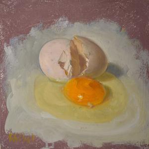 Greenport Egg by Duane Keiser 10 x 10 oil on board
