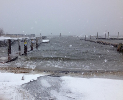 The New Suffolk boat ramp, 10:30 a.m.
