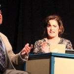 Walter (Lon Shomer) seeks advice on cars and love from Becky (Catherine Maloney).