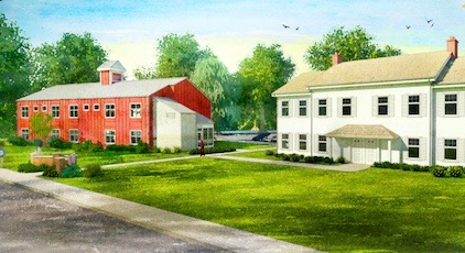 A rendering of Southampton's Sandy Hollow Cove affordable housing complex
