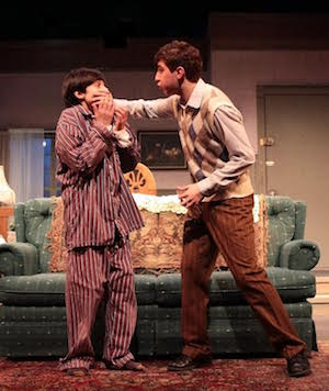"Christopher Darrin and Jamie Baio in HTC's production of ""Lost in Yonkers."""