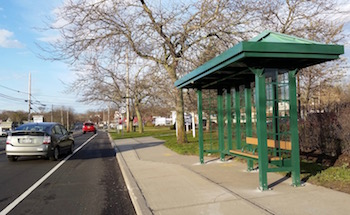 Mattituck's long-awaited bus shelter has arrived.