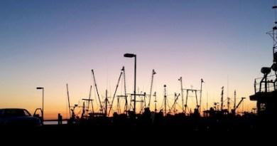 Sunset on the Shinnecock fleet