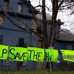 Signs in March urged the community to allow the restoration of the historic Hallock Fanning boarding house