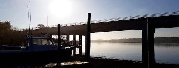 Dawn Saturday at the Route 2015 bridge.