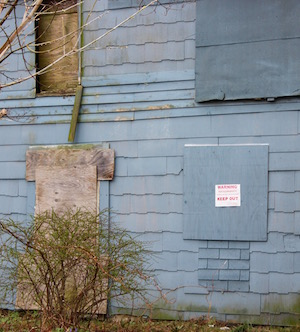 """""""Keep Out"""" signs don't appear to have deterred curious kids."""