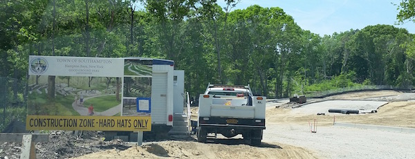 "Work is continuing this week on Good Ground Park in Hampton Bays. You can find out more about town-sponsored projects throughout Southampton at a new page on the town's website called ""Community Projects."""