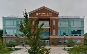 Suffolk County National Bank's Riverhead headquarters.
