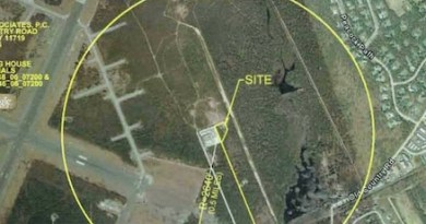 The site of the cleanup at the southeast corner of Gabreski Airport.