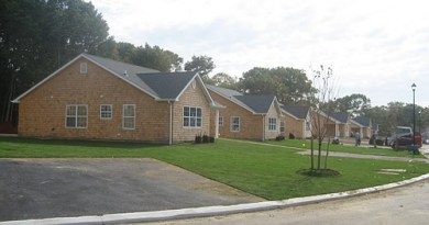 The Cottages in Mattituck, a 22-unit affordable community, while under construction in 2007. | New York State photo