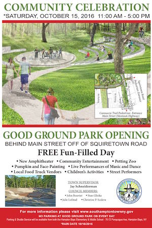 The poster announcing the grand opening of the park