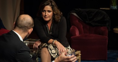 "John Leonard and Catherine Maloney in SCC's production of ""God of Carnage."""
