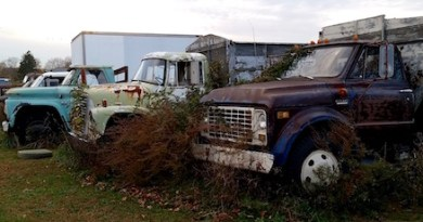 Potato truck row, Oregon Road