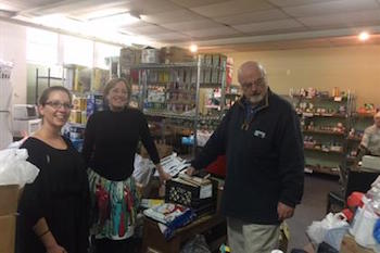 Southold Town employees bring home the holidays.