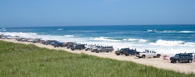 Trucks parked at Truck Beach | safebeach.org photo