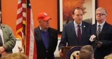 At Tuesday's press conference | photo courtesy office of Congressman Lee Zeldin