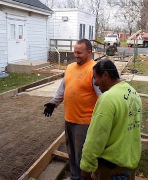 Southold Town Hall is getting a new ramp.