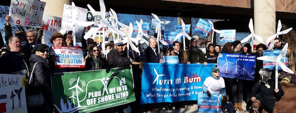 Activists rallied outside LIPA headquarters Tuesday morning.