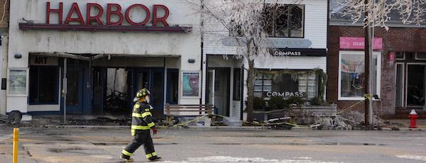 Main Street, Sag Harbor Fire