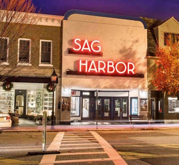 The Sag Harbor Cinema on the cover of a brochure prepared by Saunders Realty when it was put on the market in February.