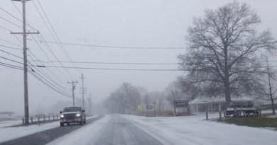 Snow day on Sound Avenue.