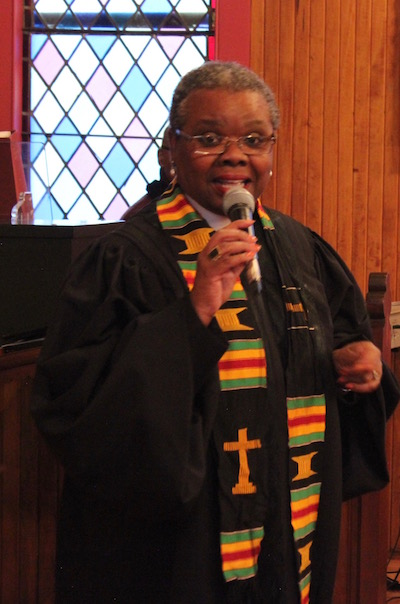 Reverend Natalie Wimberly of Greenport's Clinton Memorial AME Zion Church