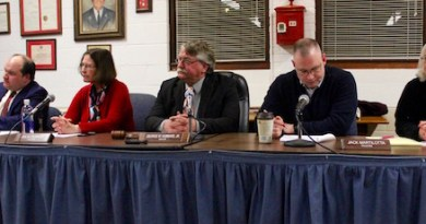 The Greenport Village Board at Thursday's meeting.