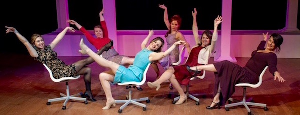 "The secretarial pool in Center Stage's production of ""Promises, Promises."""