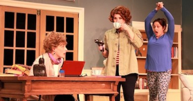 """Susan Hedges, Kelsey Cheslock and Michelle Corbett in NFCT's production of """"The Female of the Species."""""""