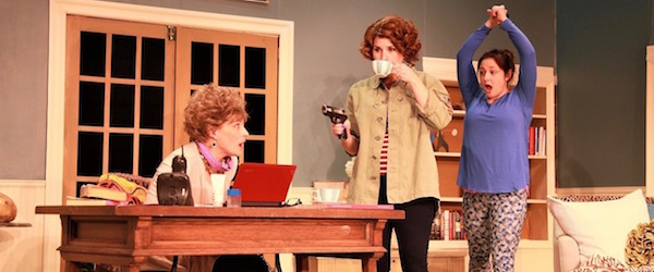 "Susan Hedges, Kelsey Cheslock and Michelle Corbett in NFCT's production of ""The Female of the Species."""