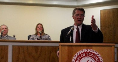 Southold Town Supervisor Scott Russell gave his State of the Town address Thursday evening.