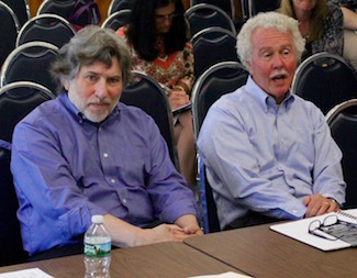 Bob Hanlon and Ed Caufield addressed the Southold Town Board.