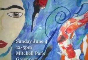 Event poster designed by Greenport High School student Leslie Perez