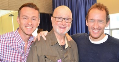 "Andrew Lippa, Jules Feiffer and Jeffrey Seller prepare for Bay Street Theatre's Production of ""The Man in the Ceiling."""