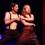 """Brianna Kinnier and Ryan Zlatniski as Sally Bowles and Bobby in NFCT's new production of """"Cabaret""""   Rory MacNish photo for NFCT"""