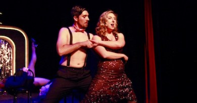 """Brianna Kinnier and Ryan Zlatniski as Sally Bowles and Bobby in NFCT's new production of """"Cabaret"""" 