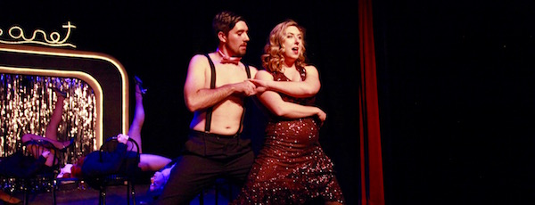 "Brianna Kinnier and Ryan Zlatniski as Sally Bowles and Bobby in NFCT's new production of ""Cabaret"" 