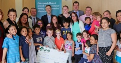 Kids and parents celebrated with Riverside Rediscovered and the Childrens Museum of the East End on Tuesday as CMEE was awarded a $10,000 grant from Bridgehampton National Bank for programming at CMEE's satellite location soon to open at Ludlam Park in Riverside.
