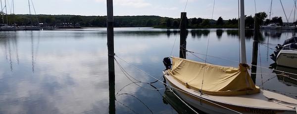 Three Mile Harbor, afternoon.