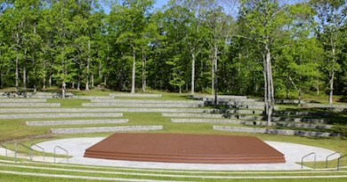 The amphitheater at Good Ground Park in Hampton Bays.