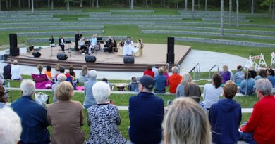 Southampton Town's new Good Ground Park opened Saturday in Hampton Bays, with a performance by Darren Ottati and his Broadway revue.