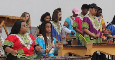 The Bridgehampton High School Marimba Group was among the performers at the Children's Museum of the East End's annual Music Fair Saturday.