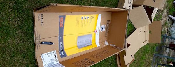 Diy storage bins from cardboard boxes