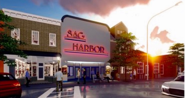 A rendering by NK Architects of the proposed redevelopment of the Sag Harbor cinema.