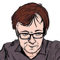 Ted Rall's self-portrait.