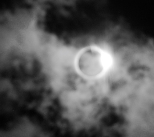 Sudden clouds as totality ends.