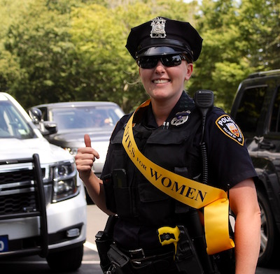 East Hampton Village Police Officer Jennifer Dunn, the third woman on the village force.