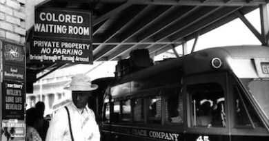 Jim Crow-era signage in Durham, NC | Georgetown University photo
