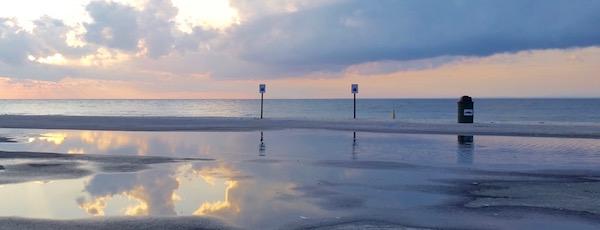 Town Beach, Greenport, Thursday evening.